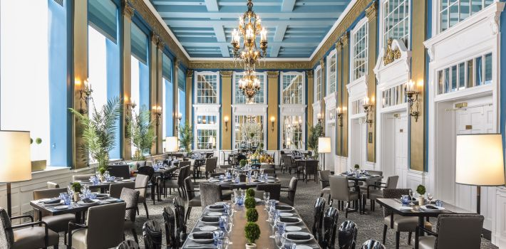 Interior view of The French Kitchen restaurant in the Lord Baltimore Hotel